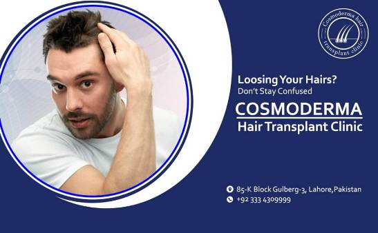 Hair transplant young patient