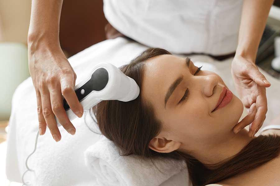 Scalp hair analysis before treatment